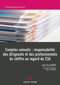 Comptes Annuels ; Responsabilite Des Dirigeants Et Des Professionnels Du Chiffre Au Regard Du Csa