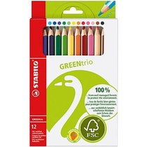 12 Crayons de couleurs GREENtrio