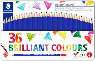 36 crayons de couleur brillantes ergosoft