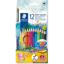 12 crayons de couleurs aquarellables