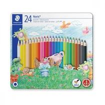 24 crayons de couleur avec protection de la mine