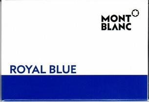 Cartouches d'encre 8 Royal Blue Mont Blanc