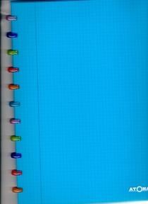 Cahier Atoma bleu 144 pages petits carreaux avec marge 90g