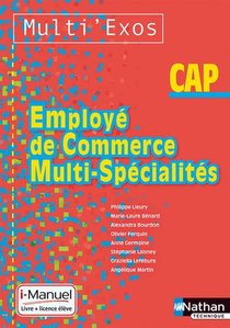 Employe De Commerce Multi-specialite Cap Multi'exos I-manuel Bi-media