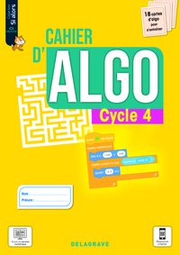 Cahier D'algo Cycle 4 (2021) - Cahier Eleve