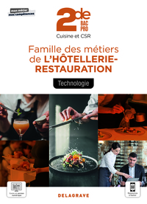 Technologie, Famille Des Metiers De L'hotellerie Restauration 2de Bac Pro Cuisine Et Csr (2021) - Po