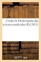 Errata Du Dictionnaire Des Sci