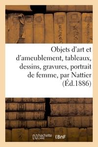 Notice D'objets D'art Et D'ameublement, Tableaux, Dessins, Gravures, Portrait De Femme, Par Nattier