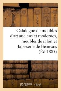 Catalogue De Meubles D'art Anciens Et Modernes, Meubles De Salon Louis Xvi En Bois Dore - Et Tapisse