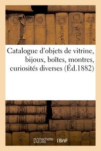 Catalogue D'objets De Vitrine, Bijoux, Boites, Montres, Curiosites Diverses