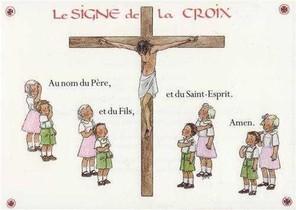 Carte Le Signe De La Croix (a L'unite)