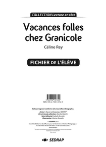 Vacances Folles Chez Granicole - Fichier Pedagogique