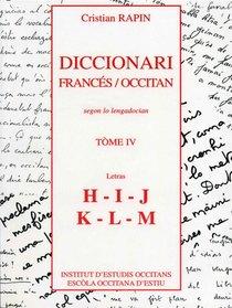 Diccionari Francés/occitan T.4 ; H-m
