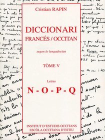 Diccionari Francés/occitan T.5 ; N-q