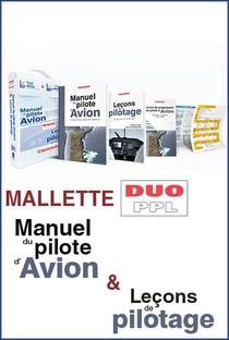 Mallette Duo Ppl : Le Manuel Du Pilote D'avion 19e Ed + Lecons De Pilotage 6e Ed