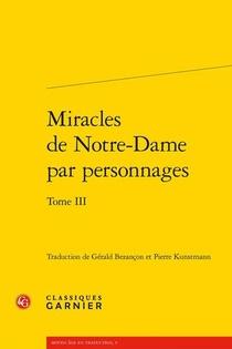 Miracles De Notre-dame Par Personnages T.3