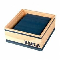 Boite carrée 40 planchettes - bleu foncé