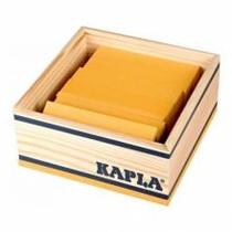 Boite carrée 40 planchettes - jaune