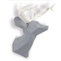 TETE DE CERF EN PAPIER POIVRE 3D
