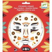 Tatouages Stickers Visage Leopard