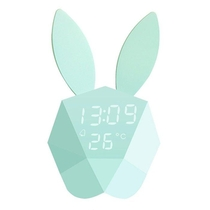 CUTTY CLOCK - REVEIL LAPIN INTELLIGENT TURQUOISE
