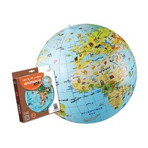 GLOBE GONFLABLE ANIMAUX 50CM