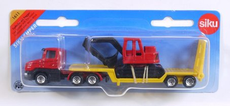Camion Surbaisse Avec Excavatrice