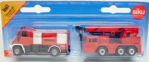 Set 2 camions de pompiers