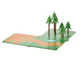 Set de chemins de campagne et forêt