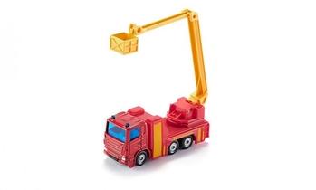 Camion de pompiers avec plateforme élévatrice de sauvetage