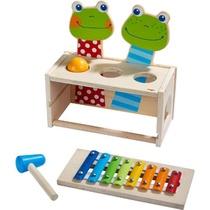 Banc à marteler musical Concert de grenouilles