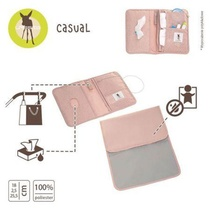 CAS POCHETTE DE CHANGE POINTS ROSE
