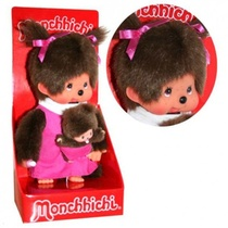 Monchhichi 20Cm Maman Avec Bebe Rose