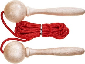 ACROBAT SKIPPING ROPE 5M RED AJUSTABLE