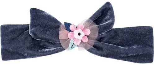 MAGIC FLOWER VELVET TIE HEADBAND