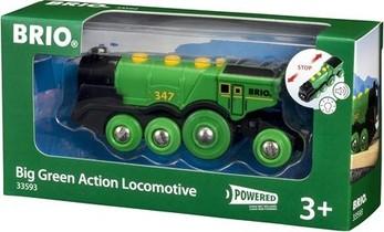 Locomotive Verte Puissante A Piles