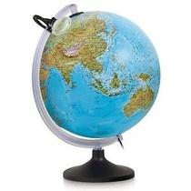 Globe Uranio Relief 30Cm Pied Et Meridien Plastique