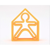 Forme A Empiler Orange  - 1 Bonhomme + 1 Maison