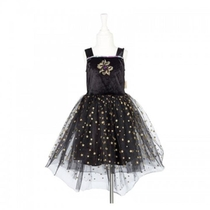 CATE ROBE NOIRE ETOILES 3-4 ANS