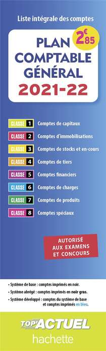 Plan Comptable General ; Liste Integrale Des Comptes (edition 2021/2022)