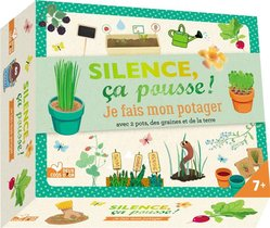 Silence Ca Pousse ! ; Je Fais Mon Potager ; Avec 2 Pots, Des Graines Et De La Terre