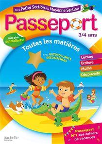 Passeport ; De La Petite Section A La Moyenne Section ; Toutes Les Matieres (edition 2020)
