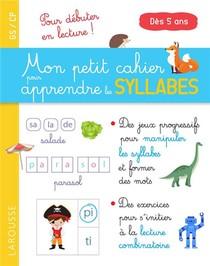 Mon Petit Cahier Pour Apprendre Les Syllabes
