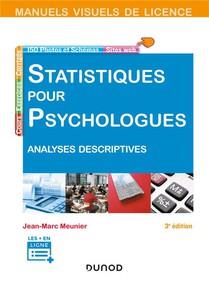 Statistiques Pour Psychologues ; Analyses Descriptives (3e Edition)