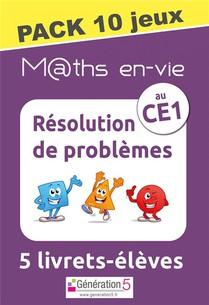 M Ths En-vie - Pack 10 Jeux De 5 Livrets - Resolution De Problemes Au Cp