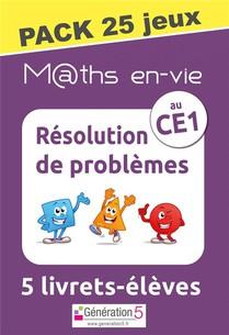 M Ths En-vie - Pack 25 Jeux De 5 Livrets - Resolution De Problemes Au Ce1