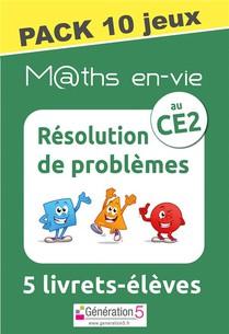 M@ths En-vie : Pack 10 Jeux De 5 Livrets ; Resolution De Problemes Au Ce2