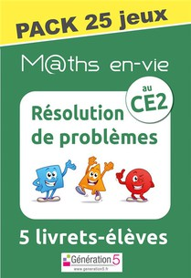 M@ths En-vie : Pack 25 Jeux De 5 Livrets ; Resolution De Problemes Au Ce