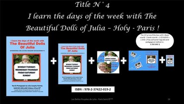 I Learn The Days Of The Week With The Beautiful Dolls Of Julia