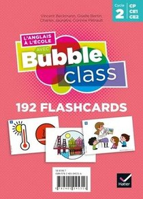 L'anglais A L'ecole Avec Bubble Class ; Cycle 2 ; Flashcards (edition 2020)